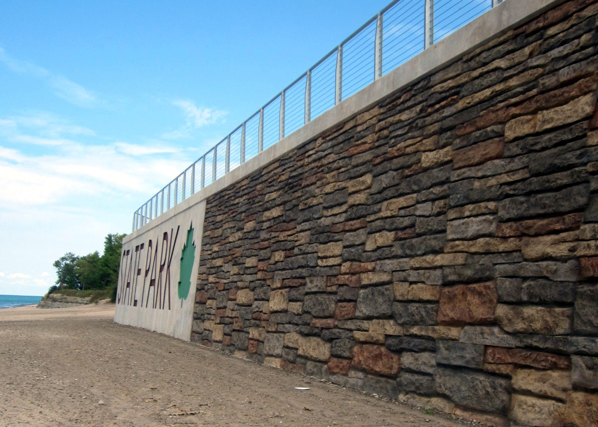 Retaining Wall Forms : Concrete retaining wall form liners