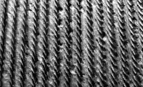 212 3/4in Ribbed Rope Fractured Fin Formliner