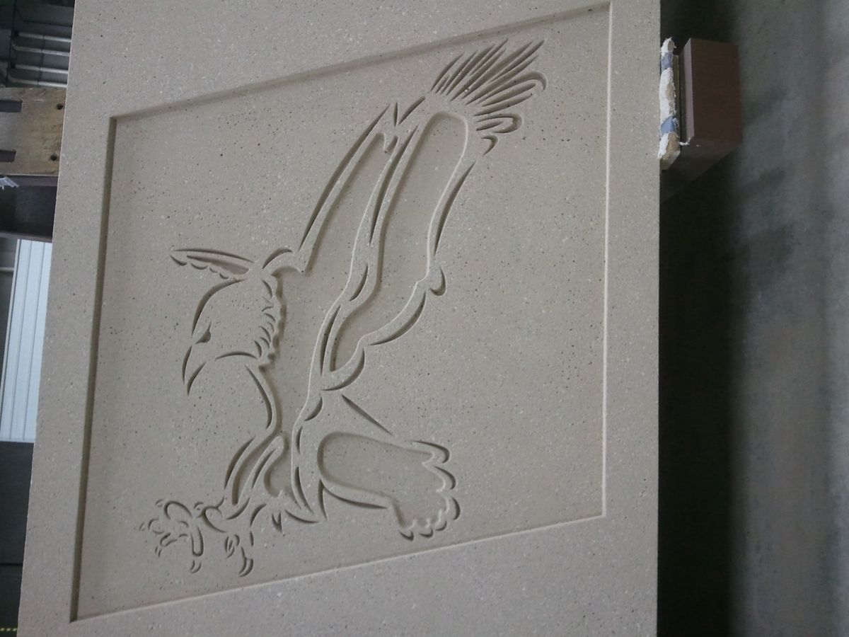 Eagle School Logo @ New Town, ND