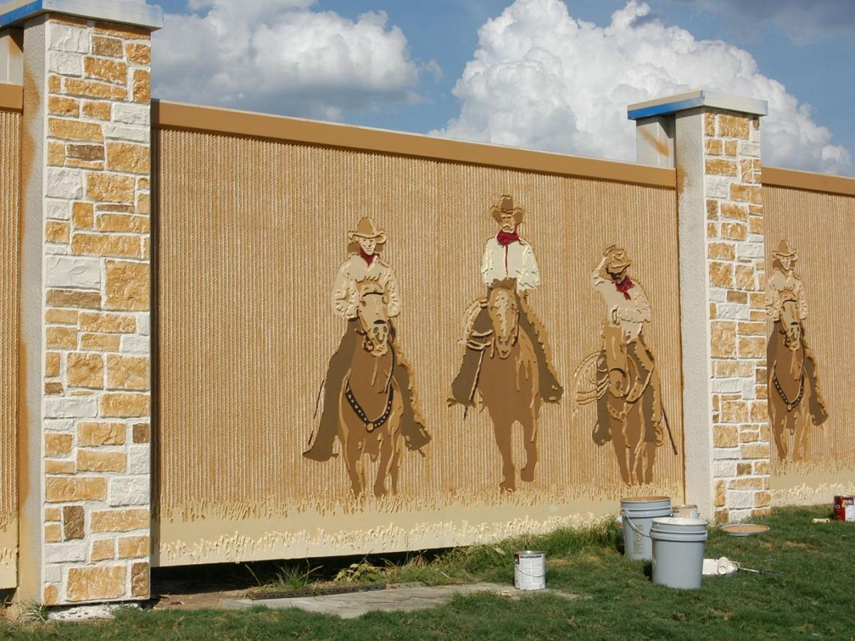 Cowboy Mural @ College Station, TX