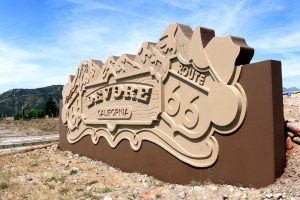 Devore project sign. If you need a concrete formliner, Custom Rock Formliner has a great reputation for customer satisfaction